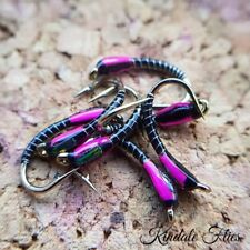 Black / Pink Buzzers Size 12 (Set of 3) Fly Fishing Flies Trout