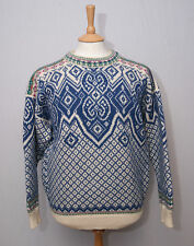 "Dale of Norway heavy warm wool Nordic crew neck jumper jersey sweater M 38"" 97"