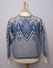 "Dale of Norway heavy warm wool Nordic crew neck jumper jersey sweater M 38"" 97"