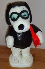 Peanuts SNOOPY RED BARON Animated Plush w/pleather Jacket, Goggles, Scarf Hat