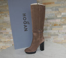 Orig Hogan TOD'S Platform Boots Size 38,5 Boots Shoes Nougat Brown New