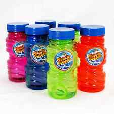 Super Miracle Bubbles 6-Pack Transparent Easy-to-Grip 4oz Bottles Includes Wands