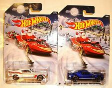 2015 HOT WHEELS LOT OF 2 HOLIDAY HOT RODS - '67 & '10 FORD MUSTANGS