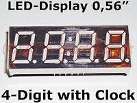 "1, 2, 5 Stck. LED-Display 4Digit 7Segment 0,56"" +Clock 12pin Common Anode Rot"