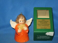 1983 Goebel Angel Bell Ornament Orange With Reed Pipes in Box