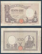 VITTORIO EMANUELE II- 100 LIRE MATRICE LATERALE  DEC.11/10/1927  RARO A.
