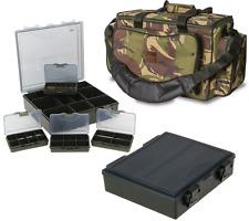 DPM Camo Saber Multi Pocket Carryall Holdall Carp Fishing Bag + NGT Tackle Box