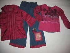Meli Meli Chasing Fireflies Longsleeves Top Shirt Pants 3 pc Gorgeous Set Sz 6
