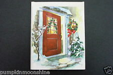 # I 776- Vintage Unused Jack Frost Xmas Greeting Card Pretty Homefront