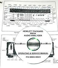 HP  8903A AUDIO ANALYZER OPERATING & SERVICE MANUAL