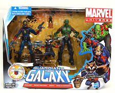 "GUARDIANS OF THE GALAXY Marvel Universe NEW 3.75"" starlord BOX SET drax groot"