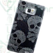 Pellicola+Custodia cover TESCHI nero per Samsung Galaxy S2 i9100 SII Nuova
