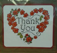 Unmounted Rubber Stamp Thank You Heart