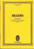 Brahms: Quartett Für Bögen op.51 N.1 - Musiknoten Taschenkalender Eulenburg