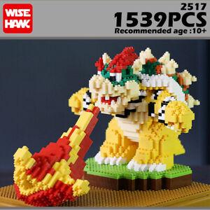 Building Blocks Super Mario Micro Bricks Spitfire Bowser Jr Koopa Adult Kids Toy