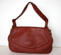 OROTON cognac brown bag with plaited handle, $495 NWT