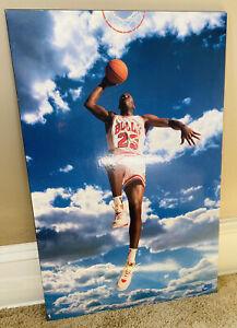 1992 Vintage Michael Jordan Nike Wooden Poster 22x34