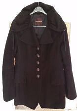 Greenstone Mantel, Jacke, Coat, Gr. S/M 36/38, schwarz Wolle