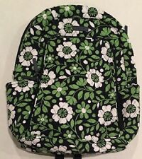 VERA BRADLEY Laptop Backpack Lucky You Pattern Green Blue Quilted NEW 14417-203