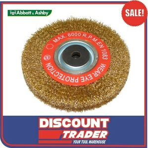 Abbott & Ashby 8″ 200mm x 25mm Crimped Brass Coated Wire Grinding Wheel 500123