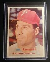1957 Topps #241 Joe Lonnett Phillies RC rookie Ex