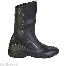 SPADA CHANNEL WATERPROOF MOTORCYCLE  BOOTS TOURING WP BOOTS BLACK
