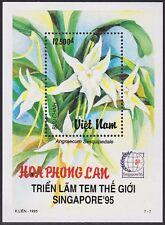 VIETNAM BLOC N°90** Bf Fleur ORCHIDEE, 1995 Vietnam 2654 Flower Orchid Sheet MNH