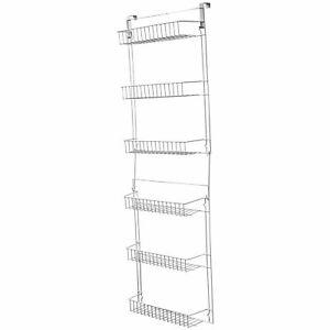 Over Door Kitchen Storage Basket Rack 5 foot 6 shelves Pantry Closet
