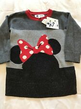 Baby Gap Disney Minnie Mouse Girls Sweater Dress 18-24 Months NWT Red Black $44