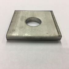 """5/8"""" x 2"""" x 2"""" x 3/16"""" Thick Square Plate Washer, 304 Stainless, Qty (100)"""