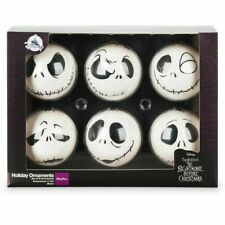 DISNEY The Nightmare Before Christmas 6 ORNAMENT SET Jack Skellington Faces