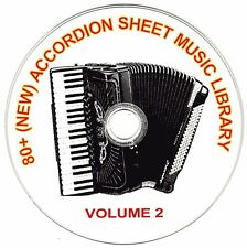 80+ SONGS! - HUGE VINTAGE ACCORDION SHEET MUSIC COLLECTION! - CD#2 of 10
