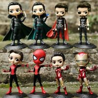 Avengers Endgame Spiderman IronMan Thor Loki Action Figure Kids Toys Doll Gift