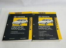 1993 TOYOTA COROLLA REPAIR MANUAL CHASSIS BODY ELECTRICAL SPECS VOL 1&2