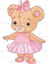 Cute teddy bear ballerine photo art imprimé poster photo BMP1224B