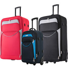 """32"""" XL Lightweight Extra Large Suitcases Medium Luggage Cabin Trolley Bag Case"""