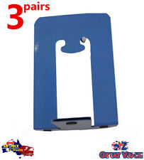 3 Pairs T-Shaped Metal Bookends Foot Desk Book Organiser Tidy (TOM-203Fx3)