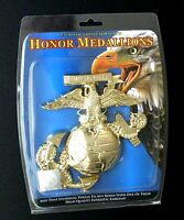 USMC MARINES MARINE CORPS 3-D GLOBE ANCHOR CUT OUT MEDALLION 6 INCHES MOUNTABLE