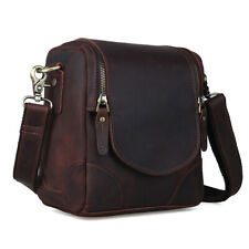 Retro Men's Real Leather SLR Camera Bag Carry On Handbag Messenger Shoulder Bag