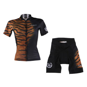 Women's Short Sleeve Cycling Jersey Shorts Set Quick Dry Breathable Mountain