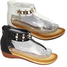 Sandalias y chanclas de mujer planos de color principal crema talla 40