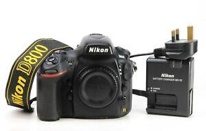 Nikon D800 DSLR Full Frame  Camera Body Only - Nikon Battery & Charger EXC