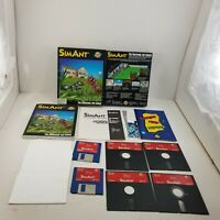 """Maxis SimAnt PC Big Box Complete 3.5"""" 5.25"""" Disks Ant Colony"""