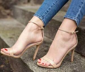 STEVE MADDEN Stecy Leather High Heel Sandal Blush Patent NIB Sz 10