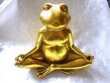 Yoga Frosch Gold Meditation Entspannung Konzentration ca11.8cm VERSANDKOSTENFREI