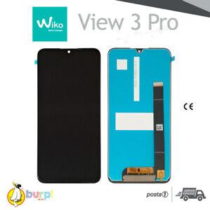 DISPLAY LCD PER WIKO VIEW 3 PRO W-P611 TOUCH SCREEN VETRO NERO SCHERMO