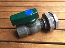 """Rain Barrel Water Spigot Kit 3/4"""" PVC Ball Valve and Bulkhead Fitting"""