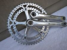 Sugino GS Double Road Bike Cranks 170 Crankset 144BCD 52/42 Drilled Rings