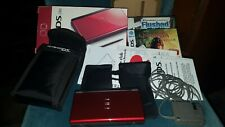 Nintendo DS Lite Lot- Red System complete in box W/Games, Case, Skin & more