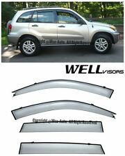 WellVisors Side Window Visors Deflector Premium Series For 01-05 Toyota RAV4